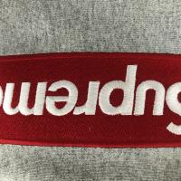 Box logo hoodie XL red on grey  | Image 3