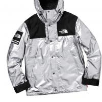 Supreme the north face metallic mountain Parka Silver | Image 1