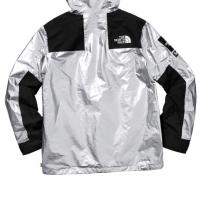 Supreme the north face metallic mountain Parka Silver | Image 3