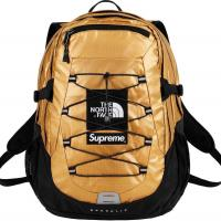 Supreme The North Face Metallic Borealis Backpack Gold | Image 1