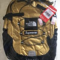 Supreme The North Face Metallic Borealis Backpack Gold | Image 2