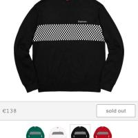 Supreme checkered panel crewneck sweater | Image 1