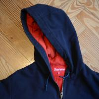 Supreme Red Built Hooded Work Jacket Fall/Winter 2008, Blue, Large | Image 4