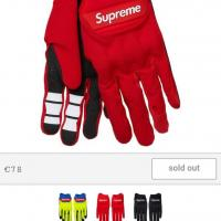 Supreme x Fox Gloves Red S | Image 2