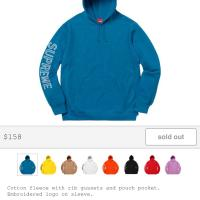 Supreme Sleeve embroidery Hooded sweatshirt  | Image 1