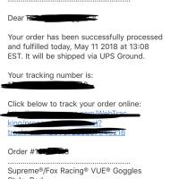 Supreme®/Fox Racing® VUE® Goggles (Red) *CONFIRMED ORDER* DEADSTOCK *SOLD OUT* | Image 4