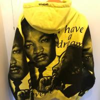Supreme MLK Dream Hooded Sweatshirt Lemon | Image 2