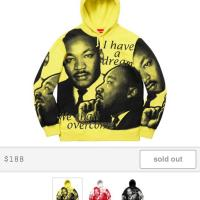 Supreme MLK Dream Hooded Sweatshirt Lemon | Image 4