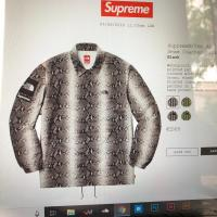 Supreme  The North Face Snakeskin Taped Seam Coaches Jacket | Image 1