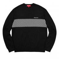 Supreme Checkered Panel Crewneck Sweater | Image 2