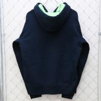 Contrast Zip Up Hooded Sweatshirt b10830 | Image 2