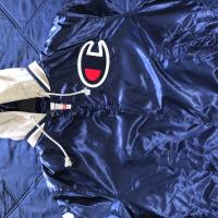 Supreme X Champion Varsity Jacket Navy | Image 1