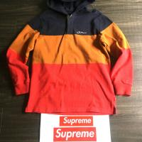SUPREME BLOCKED STRIPED HOODED RUGBY SZ L | Image 2