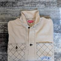 Supreme Diamond Stitch Denim Chore Jacket | Image 1