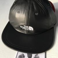Supreme  The North Face Leather Cap Black | Image 3