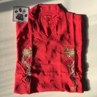 Dragon Rayon Shirt Red XL | Image 1