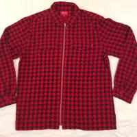 Supreme Houndstooth Flannel Zipup Shirt  RedBlack  XL  new and unused | Image 1