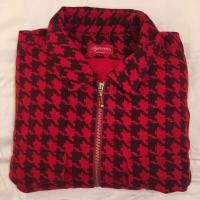 Supreme Houndstooth Flannel Zipup Shirt  RedBlack  XL  new and unused | Image 2