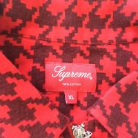 Supreme Houndstooth Flannel Zipup Shirt  RedBlack  XL  new and unused | Image 3