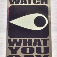 Supreme watch what you say sticker | Image 2