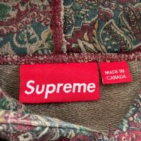 Supreme Paisley Hoodie Burgundy  Red in Large FW11  8510 | Image 4