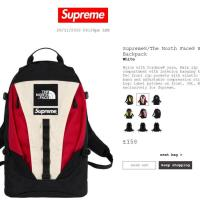 SUPREME X TNF  The North Face Backpack BlackRedWhite | Image 4
