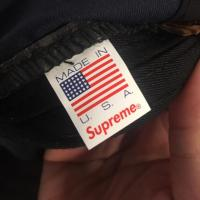 Supreme Cap Navy Blue Washed Chino | Image 2