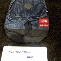 SUPREME NORTH FACE DENIM DAY PACK BACKPACK WINDSTOPPER | Image 1