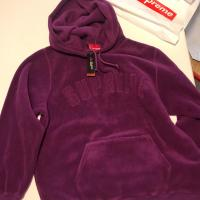 Supreme Polartec Purple Hooded FW1718 | Image 1