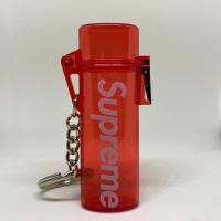Supreme Waterproof Lighter Case Keychain Red | Image 1