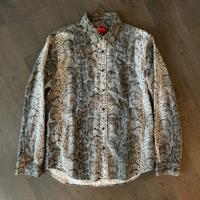 Supreme Snakeskin Flannel Button down LARGE | Image 1