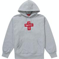 Supreme cross box logo small heather grey Arriving Tuesday 8 | Image 1