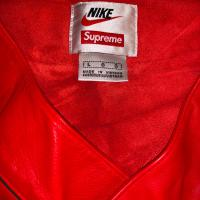 Supreme Nike baseball jersey leather red | Image 2