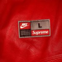 Supreme Nike baseball jersey leather red | Image 3
